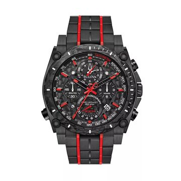 Bulova Men's Precisionist Black Ion-Plated Stainless Steel Chronograph Watch - 98B313