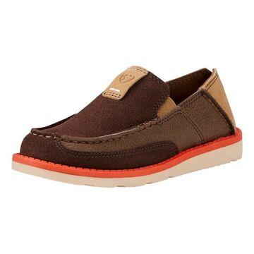 Ariat Casual Shoes Boys Cruiser Slip On EVA Chocolate Suede
