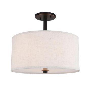 Woodbridge Lighting 13435MEB-S11500 Drum Shade Semi-flush