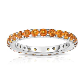 Noray Designs 14K White Gold Citrine Eternity Ring (1.35 cttw) - Yellow