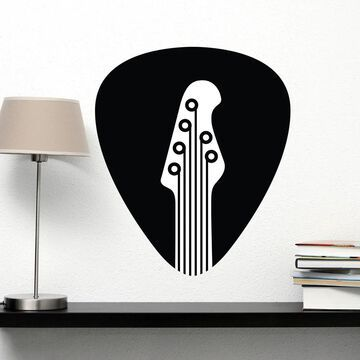 Style and Apply Vinyl Guitar Pick Wall Decal