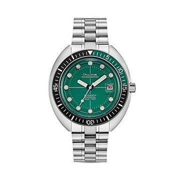Bulova Oceanograper Green Dial Watch, 44mm