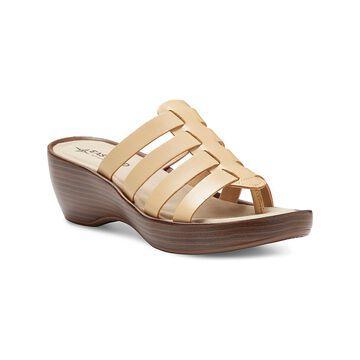 Eastland Women's Sandals BEIGE - Beige Topaz Leather Heeled Sandal - Women