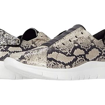 Sesto Meucci Cupid (White Dylan/Black Nappa/Clear Stones) Women's Shoes