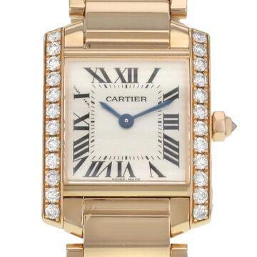 Cartier Women's WE10456H 'Tank Francaise' 18kt Rose Gold 18kt Rose Gold Watch