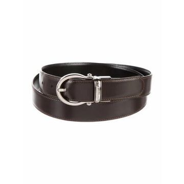 Skinny Leather Belt Brown