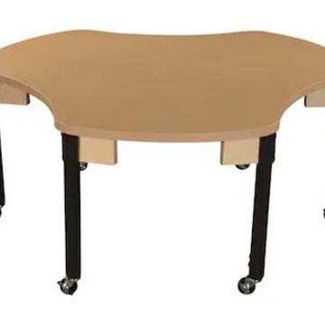 Wood Designs Mobile Synergy Union 44 x 48 High Pressure Laminate Group Table with Adjustable Legs 20 | Quill