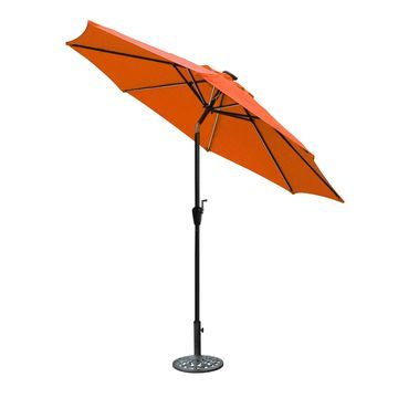 Jeco Aluminum 9-foot Umbrella with Crank and Solar Guide Tubes