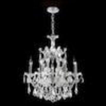 Worldwide Lighting Maria Theresa 7-Light Chrome Glam Crystal Candle Chandelier
