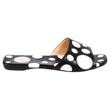 Christian Louboutin Black Leather Sandals