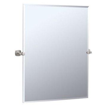 Gatco Large Rectangular Tilting Wall Mirror in Brushed Nickel