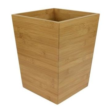 Home Basics Bamboo Waste Bin Bedding