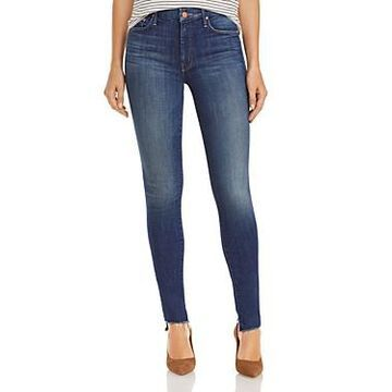Mother The Looker Step Hem Skinny Jeans in Skunk At The Tea Party