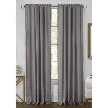 Achim Wallace Rod Pocket Window Curtain Panel -