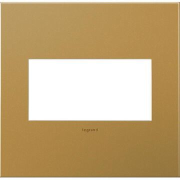 Legrand adorne 2-Gang Satin Bronze Square Screwless Specialty Wall Plate | AWC2GSB4