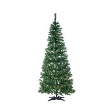 Sterling 6-Foot High Pop Up Pre-Lit Green Pvc Fir Tree with Warm White Lights