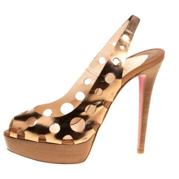 Christian Louboutin Metallic Leather Sandals