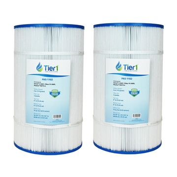 Tier1 Pentair Pool filter R173214, Pleatco PAP75-4, Filbur FC-0685, Unicel C-9407 Comparable Replacement Pool Filter Cartridge (2-Pack)
