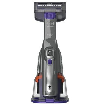 BLACK+DECKER 20V MAX* dustbuster AdvancedClean+ Handheld Pet Vacuum With Base Charger and Extra Filter (HHVK515BPF07), Purple