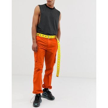 Jaded London cargo pants with pockets in orange