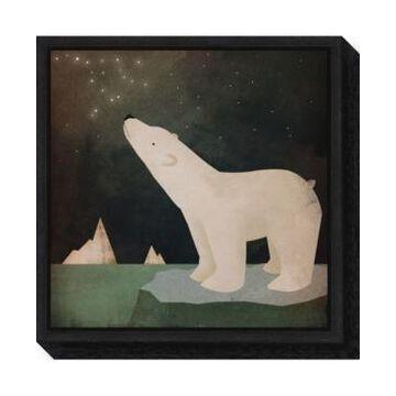 Amanti Art Constellations Polar Bear by Ryan Fowler Canvas Framed Art