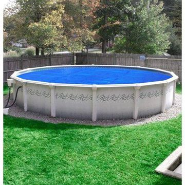 Robelle Heavy-Duty Solar Cover for Above Ground Swimming Pools, 24-Foot Pools