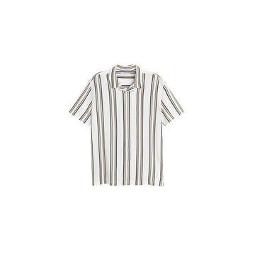 MANGO MAN - Striped flowy shirt white - XS - Men