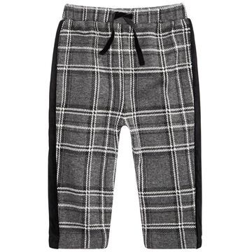 Baby Boys Velvet-Stripe Plaid Pants, Created For Macy's