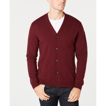 Club Room Men's Knit V-Neck Cardigan, Created for Macy's