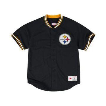 Mitchell & Ness Men's Pittsburgh Steelers Seasoned Pro Mesh Button Front 2.0 Shirt