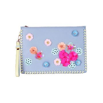 Sophia Webster Blue Leather Clutch bags