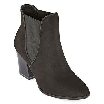 Andrew Geller Womens Darcel Block Heel Booties