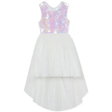 Little Girls Sequin High-Low Hem Dress