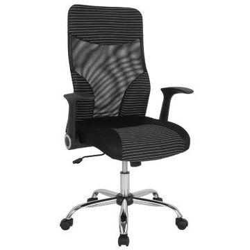 Flash Furniture Swivel Milford Chair in Black/white