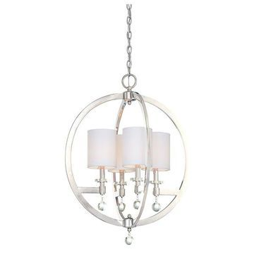 Minka Metropolitan Chadbourne 4-Light Pendant, Polished Nickel