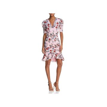 Keepsake Womens Need You Now Mini Dress Floral Ruffled