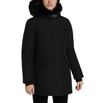 Woolrich Beaker Faux Fur Trim Hooded Parka