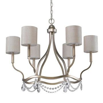 Acclaim Lighting Margaret Gold Steel 6-light Chandelier (Gold)
