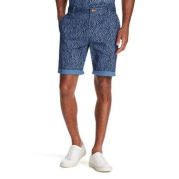 Tallia Men's Modern-Fit Stretch Zebra Print Shorts