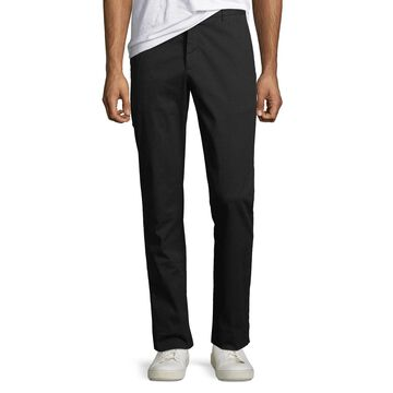 Men's Slim Enzyme-Washed Stretch-Canvas Pants