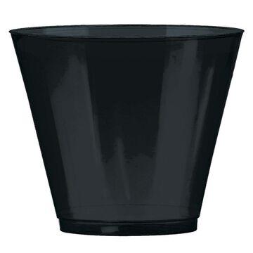 Amscan 9-oz Jet Black Plastic Tumblers