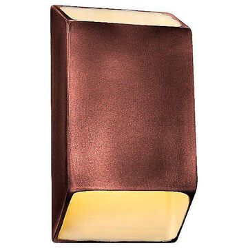 Justice Design Group Ambiance Tapered Rectangle Open Top and Bottom LED Wall Sconce - Color: Copper - Size: Small - CER-5865-HMCP