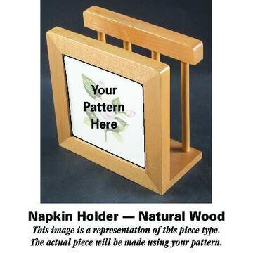 Mason's Paynsley Pink Natural Wood Napkin Holder HC