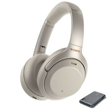 Sony WH1000XM3 Wireless Noise Canceling Headphones (Silver) and USB-C Power Bank