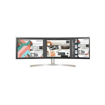 LG 49WL95C-W 49'' UltraWide Curved Dual QHD Virtually Borderless IPS LED Monitor with Built-In S