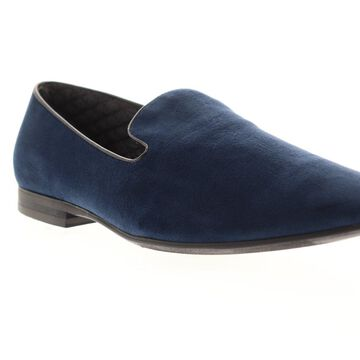 Giorgio Brutini Cress Mens Blue Textile Dress Slip On Loafers Shoes