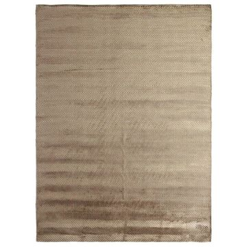 Exquisite Rugs Herringbone Khaki Viscose Rug - 10' x 14'