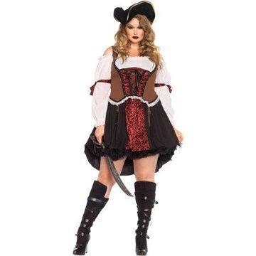 Leg Avenue Women's Plus Size Wench Pirate Costume, 3X-4X, Multicolor