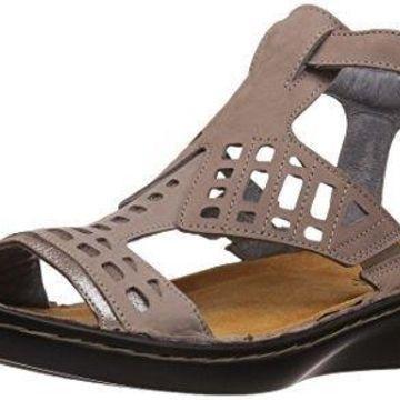 NAOT Women's String Flat Sandal, Stone Nubuck, 35 EU/4 M US