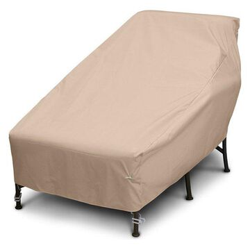 Wide Chaise Cover, Toast